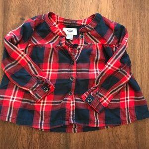 Old navy 2T girls plaid shirt